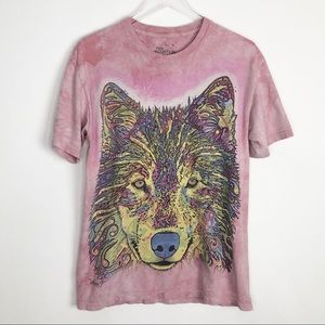 THE MOUNTAIN Psychedelic Wolf Head Graphic Tee M